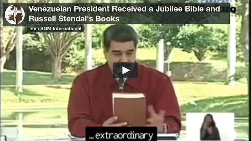 President Maduro of Venezuela Receives Jubilee Bible